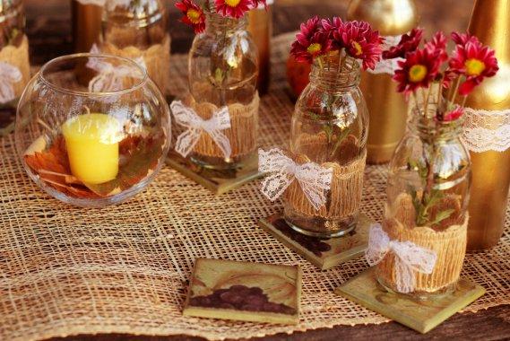 Decorazioni Autunnali Per La Casa : Decorazioni con le foglie d autunno donnad