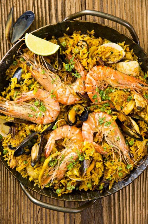 Paella de marisco: ric...