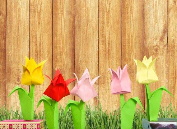 Fiori di carta origami semplici tutorial donnad for Fiori semplici