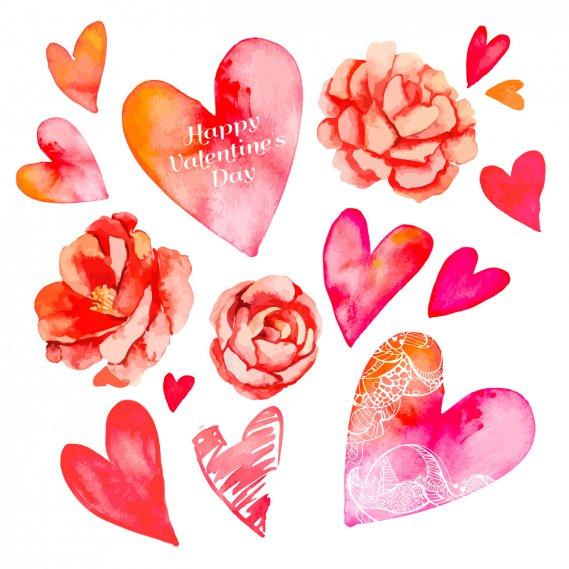 Decoupage di san valentino le decorazioni floreali donnad - Decorazioni di san valentino ...