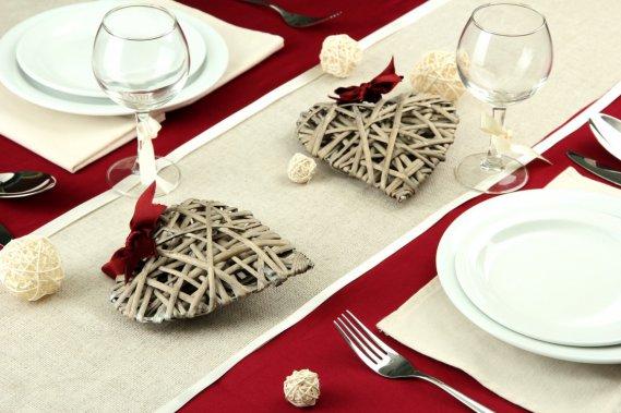 La mise en place di san valentino come apparecchiare la - Tavola di san valentino ...