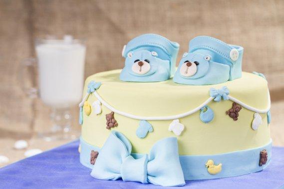 Cake Design Ricette Pasta Di Zucchero : Cake design per la nascita, le 5 torte pi? dolci DonnaD