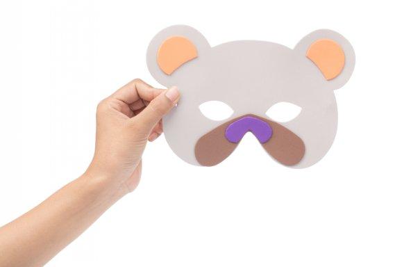 Maschere di carnevale per bambini da ritagliare e colorare for Disegni da colorare e ritagliare per bambini