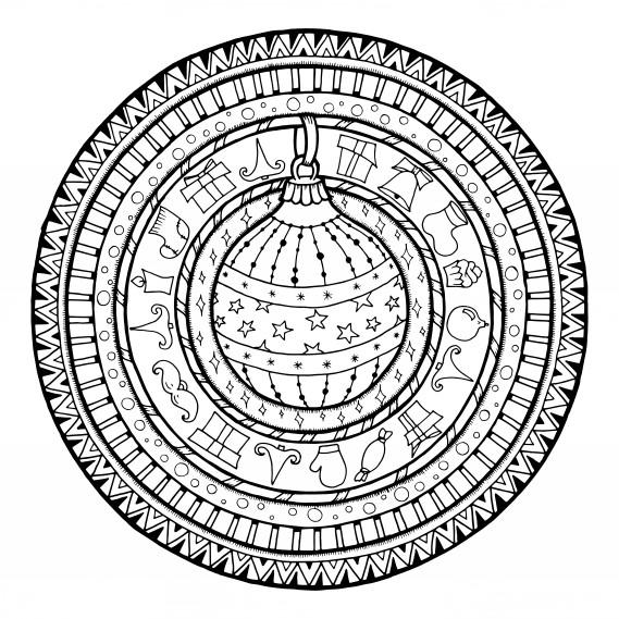 7 Mandala Natalizi Che Vorrai Colorare Subito Donnad