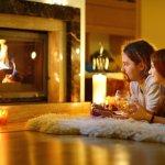 camino sicurezza calore marmo legno casa