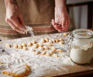 gnocchi zucca fagioli e salsiccia