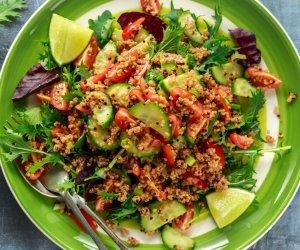 tabulè, pesce, verdure