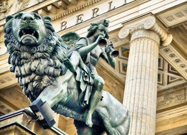 Berlino Germania statua centro storico