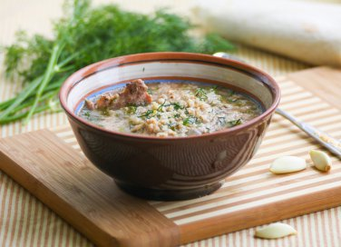 minestra zuppa riso polmone vitello brodo