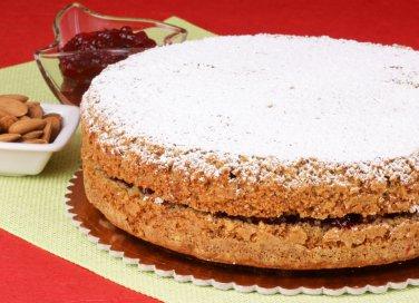 torta grano saraceno senza glutine marmellata lamponi ribes