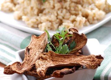 Risotto con funghi secchi porcini