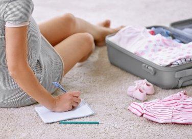 borsa per l'ospedale preparto, borsa, parto, gravidanza, valigia