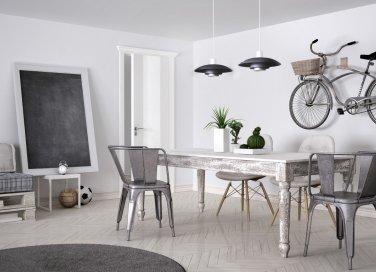 interior design, stile industriale, complementi arredo
