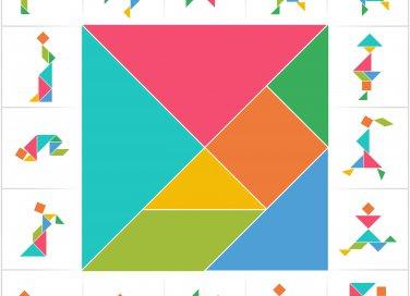 giochi estivi bambini, tangram gioco