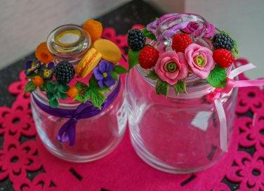 decorare vasetti vetro, decorare barattoli vetro