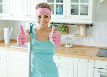 lavori domestici, autunno, pulire casa
