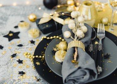 Natale, decorare tavola, decorazioni raffinate