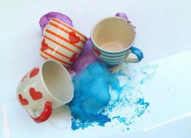 come dipingere tazze di ceramica