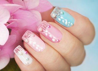 nail art, decorazione unghie, primavera