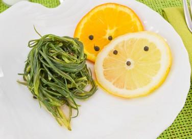 agretti, limone, contorno
