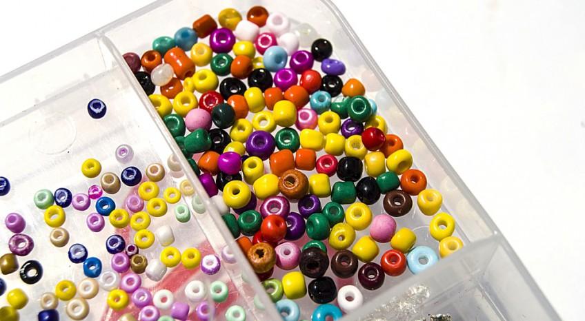 5 fili in nylon trasparente per infilare perline bijoux