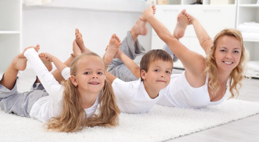 ginnastica casa bambini