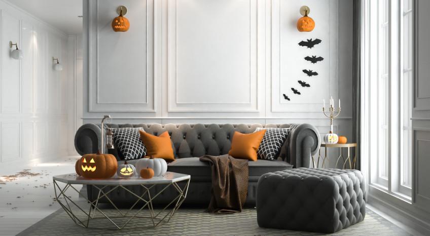 come decorare casa halloween, casa halloween