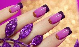 nail art, ultra violet Pantone, decorazione unghie