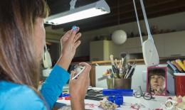 Barbara Uderzo in laboratorio