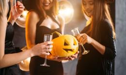festa, halloween, adulti