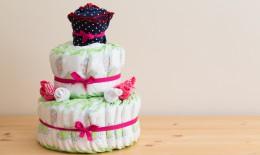 torta pannolini bebè