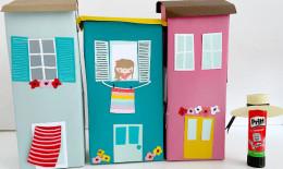Come realizzare casette coloratissime con i cartoni del latte