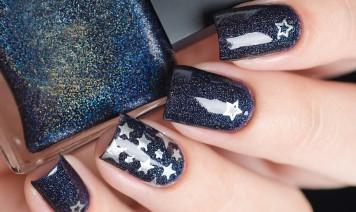 nail art, stelle, decorazione unghie