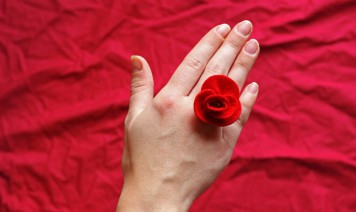 ghirlanda rose feltro