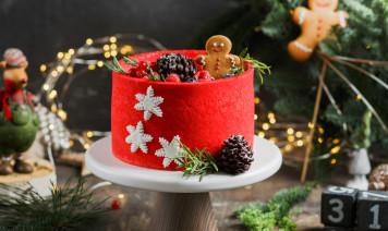 torte decorate natale, torte decorate natalizie