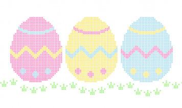 uova di pasqua punto croce, pasqua punto croce