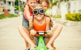 bambini, vacanza, divertimento, convivenza