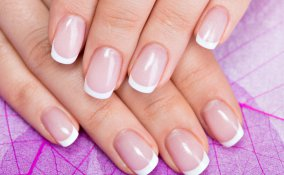 french manicure, nail art, unghie