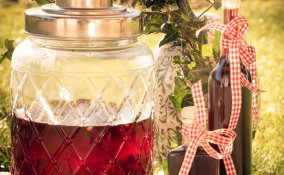 Liquore fatto in casa con la frutta estiva