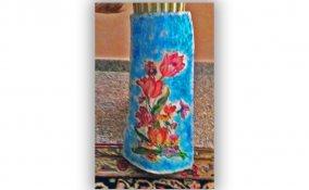 decorare tegola terracotta decoupage, tegola decoupage