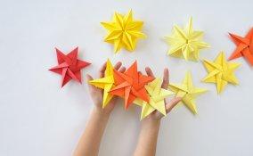 stella di natale origami, stella di natale istruzioni, lavoretti di natale
