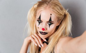 make-up, carnevale, pagliaccio