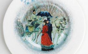 lavoretti creativi san valentino, piatto decorato decoupage, decoupage san valentino