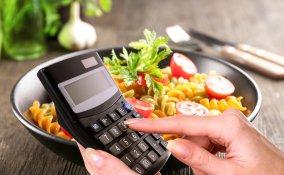 calcolatrice, piatto