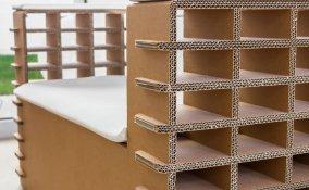 mobili cartone riciclato