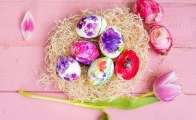 uova polistirolo decoupage, decorare uova pasqua