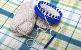 lavorare a maglia, maglia con telaio