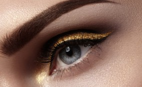 trucco, estate, ombretto color oro