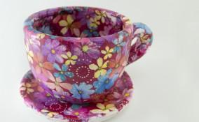 come decorare tazza, decoupage ceramica, personalizzare tazza