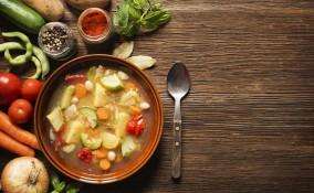 fagioli, verdure, piatto